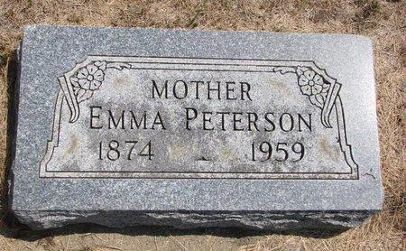 PETERSON, EMMA - Turner County, South Dakota   EMMA PETERSON - South Dakota Gravestone Photos