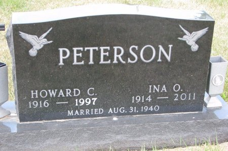 PETERSON, INA O. - Turner County, South Dakota | INA O. PETERSON - South Dakota Gravestone Photos