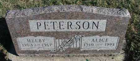 PETERSON, MELBY - Turner County, South Dakota | MELBY PETERSON - South Dakota Gravestone Photos