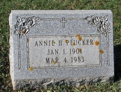 PLUCKER, ANNIE H. - Turner County, South Dakota   ANNIE H. PLUCKER - South Dakota Gravestone Photos