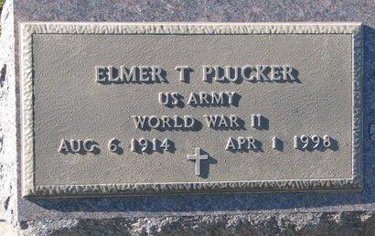 PLUCKER, ELMER T. - Turner County, South Dakota | ELMER T. PLUCKER - South Dakota Gravestone Photos