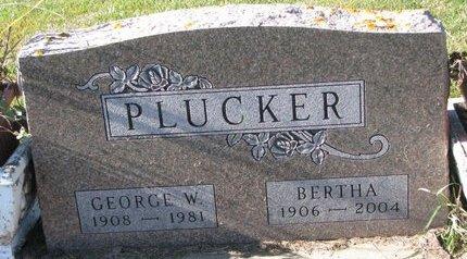 PLUCKER, GEORGE W. - Turner County, South Dakota | GEORGE W. PLUCKER - South Dakota Gravestone Photos
