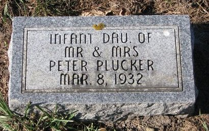 PLUCKER, INFANT DAUGHTER - Turner County, South Dakota   INFANT DAUGHTER PLUCKER - South Dakota Gravestone Photos