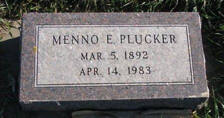 PLUCKER, MENNO E. - Turner County, South Dakota | MENNO E. PLUCKER - South Dakota Gravestone Photos
