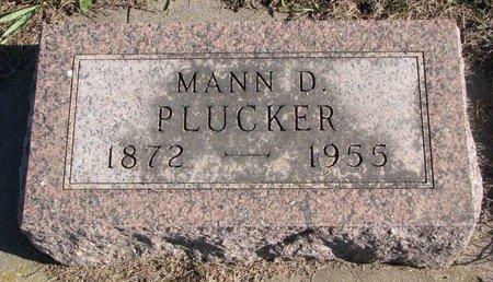 PLUCKER, MANN D. - Turner County, South Dakota | MANN D. PLUCKER - South Dakota Gravestone Photos