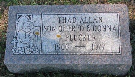 PLUCKER, THAD ALLAN - Turner County, South Dakota   THAD ALLAN PLUCKER - South Dakota Gravestone Photos