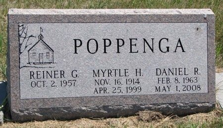 POPPENGA, MYRTLE H. - Turner County, South Dakota | MYRTLE H. POPPENGA - South Dakota Gravestone Photos