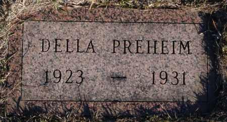 PREHEIM, DELLA - Turner County, South Dakota | DELLA PREHEIM - South Dakota Gravestone Photos