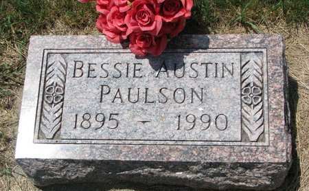 AUSTIN PAULSON, BESSIE - Turner County, South Dakota | BESSIE AUSTIN PAULSON - South Dakota Gravestone Photos