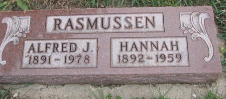 RASMUSSEN, ALFRED J. - Turner County, South Dakota | ALFRED J. RASMUSSEN - South Dakota Gravestone Photos