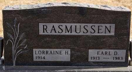 RASMUSSEN, EARL D - Turner County, South Dakota | EARL D RASMUSSEN - South Dakota Gravestone Photos