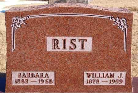 RIST, WILLIAM J - Turner County, South Dakota | WILLIAM J RIST - South Dakota Gravestone Photos