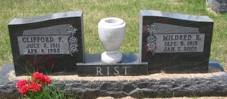 RIST, CLIFFORD F. - Turner County, South Dakota | CLIFFORD F. RIST - South Dakota Gravestone Photos