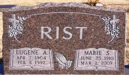 RIST, EUGENE A - Turner County, South Dakota | EUGENE A RIST - South Dakota Gravestone Photos