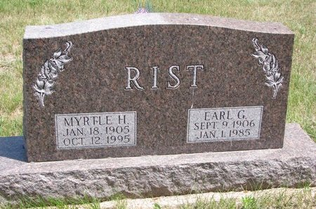 RIST, EARL G. - Turner County, South Dakota | EARL G. RIST - South Dakota Gravestone Photos