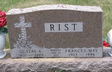 MILLAGE RIST, FRANCES MAY - Turner County, South Dakota | FRANCES MAY MILLAGE RIST - South Dakota Gravestone Photos