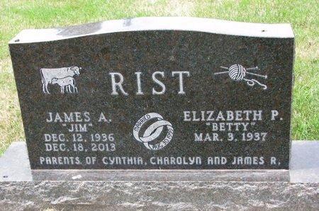 "RIST, ELIZABETH P. ""BETTY"" - Turner County, South Dakota | ELIZABETH P. ""BETTY"" RIST - South Dakota Gravestone Photos"