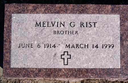 RIST, MELVIN G - Turner County, South Dakota | MELVIN G RIST - South Dakota Gravestone Photos