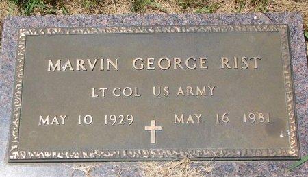 RIST, MARVIN GEORGE - Turner County, South Dakota | MARVIN GEORGE RIST - South Dakota Gravestone Photos