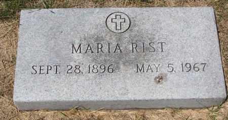 RIST, MARIA - Turner County, South Dakota | MARIA RIST - South Dakota Gravestone Photos