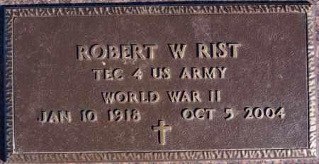 RIST, ROBERT W (WWII) - Turner County, South Dakota | ROBERT W (WWII) RIST - South Dakota Gravestone Photos