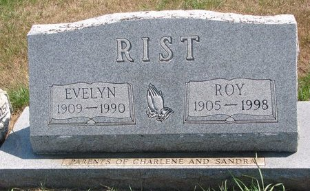 RIST, EVELYN - Turner County, South Dakota | EVELYN RIST - South Dakota Gravestone Photos