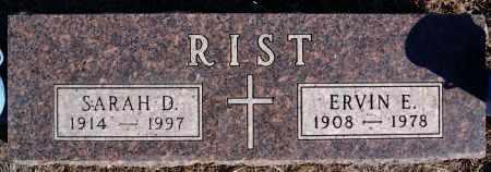 RIST, ERVIN E - Turner County, South Dakota | ERVIN E RIST - South Dakota Gravestone Photos
