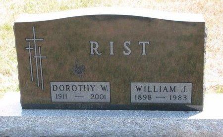 RIST, DOROTHY W. - Turner County, South Dakota | DOROTHY W. RIST - South Dakota Gravestone Photos