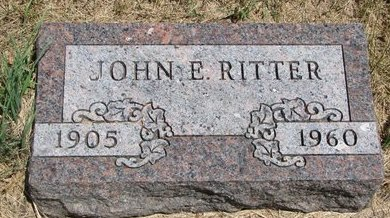 RITTER, JOHN E. - Turner County, South Dakota | JOHN E. RITTER - South Dakota Gravestone Photos