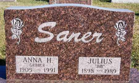 SANER, ANNA H - Turner County, South Dakota   ANNA H SANER - South Dakota Gravestone Photos