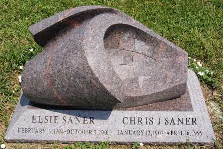 SANER, ELSIE - Turner County, South Dakota | ELSIE SANER - South Dakota Gravestone Photos