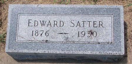 SATTER, EDWARD JULIUS - Turner County, South Dakota | EDWARD JULIUS SATTER - South Dakota Gravestone Photos