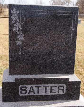 SATTER, FAMILY MARKER - Turner County, South Dakota   FAMILY MARKER SATTER - South Dakota Gravestone Photos