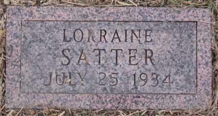 SATTER, LORRIANE - Turner County, South Dakota   LORRIANE SATTER - South Dakota Gravestone Photos
