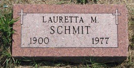 SCHMIT, LAURETTA M. - Turner County, South Dakota   LAURETTA M. SCHMIT - South Dakota Gravestone Photos