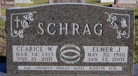 SCHRAG, CLARICE W - Turner County, South Dakota   CLARICE W SCHRAG - South Dakota Gravestone Photos