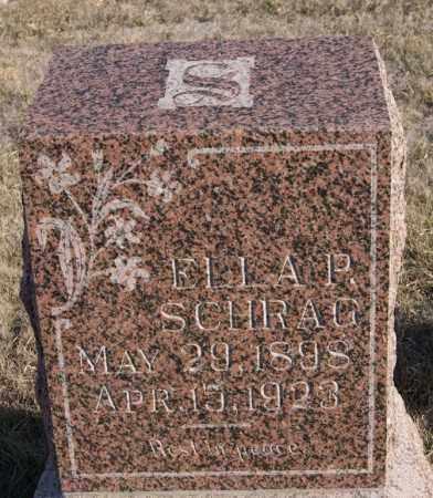 SCHRAG, ELLA P - Turner County, South Dakota   ELLA P SCHRAG - South Dakota Gravestone Photos