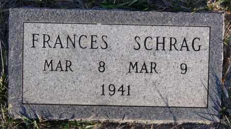 SCHRAG, FRANCES - Turner County, South Dakota | FRANCES SCHRAG - South Dakota Gravestone Photos