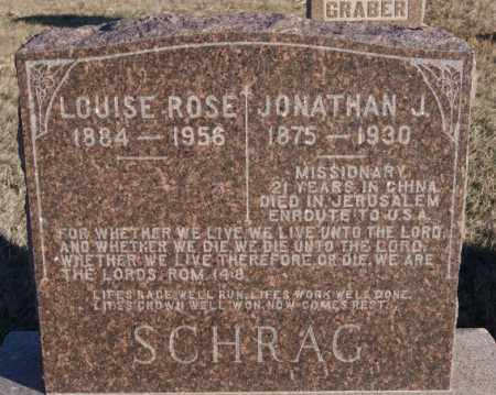 SCHRAG, JONATHAN J - Turner County, South Dakota | JONATHAN J SCHRAG - South Dakota Gravestone Photos
