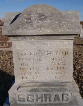 SCHRAG, PETER J - Turner County, South Dakota | PETER J SCHRAG - South Dakota Gravestone Photos