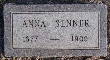 SENNER, ANNA - Turner County, South Dakota | ANNA SENNER - South Dakota Gravestone Photos