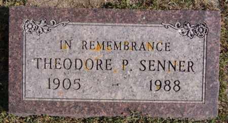 SENNER, THEODORE P - Turner County, South Dakota   THEODORE P SENNER - South Dakota Gravestone Photos
