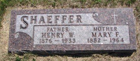 SHAEFFER, MARY F. - Turner County, South Dakota | MARY F. SHAEFFER - South Dakota Gravestone Photos