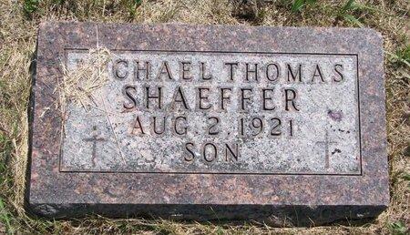 SHAEFFER, MICHAEL THOMAS - Turner County, South Dakota | MICHAEL THOMAS SHAEFFER - South Dakota Gravestone Photos