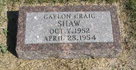 SHAW, GAYLON CRAIG - Turner County, South Dakota   GAYLON CRAIG SHAW - South Dakota Gravestone Photos