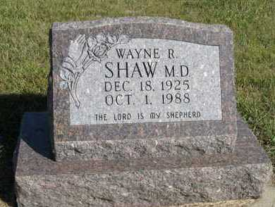 SHAW, WAYNE R. - Turner County, South Dakota | WAYNE R. SHAW - South Dakota Gravestone Photos