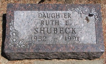 SHUBECK, RUTH E. - Turner County, South Dakota | RUTH E. SHUBECK - South Dakota Gravestone Photos