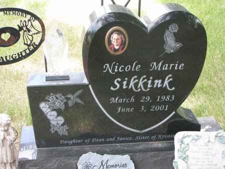 SIKKINK, NICOLE MARIE - Turner County, South Dakota | NICOLE MARIE SIKKINK - South Dakota Gravestone Photos