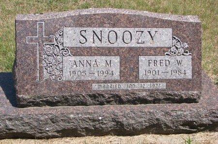 SNOOZY, FRED W. - Turner County, South Dakota | FRED W. SNOOZY - South Dakota Gravestone Photos