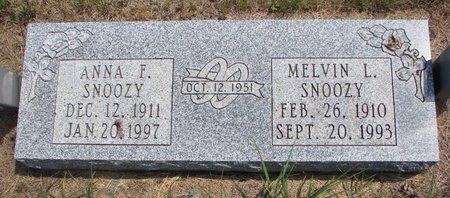 SNOOZY, ANNA F. - Turner County, South Dakota | ANNA F. SNOOZY - South Dakota Gravestone Photos